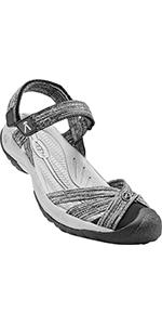 women's bali strap closed toe casual sandal water resistant