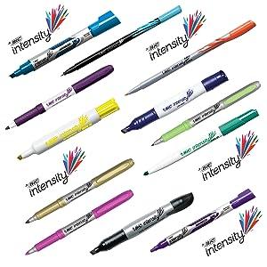 Amazon.com : BIC Intensity Fineliner Marker Pen, Medium