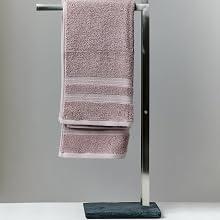 Handdoekenrek Slate-rok, handdoekhouder vrijstaand in leisteen-look, kledingrek roestvrij staal