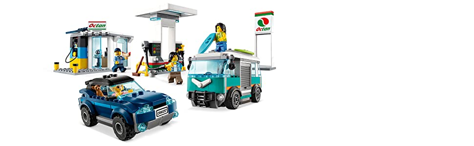 LEGO City Turbo Wheels - Gasolinera, Set de Construcción de ...