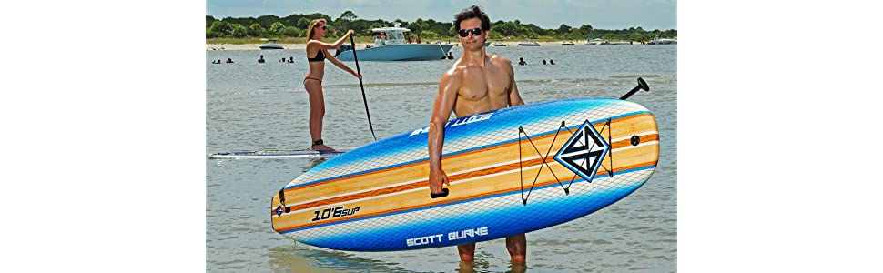 Amazon.com: Scott Burke, tabla de surf de remo grande de 10 ...