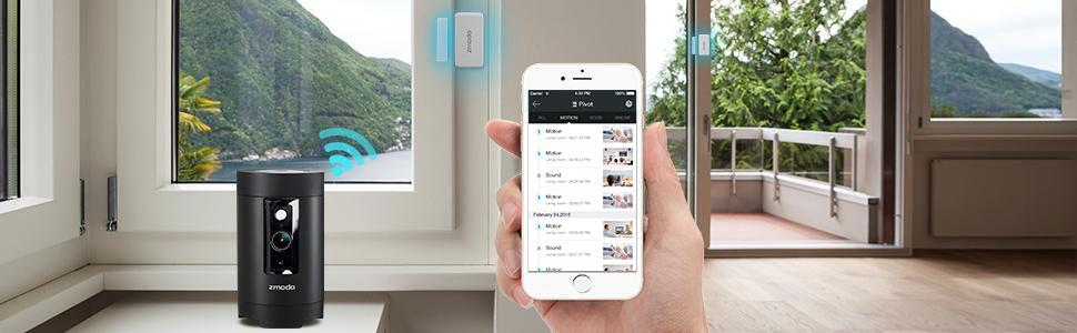 Amazon Com Zmodo Pivot 1080p 360 176 Rotating Wireless
