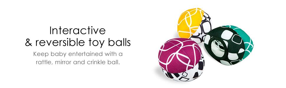 4moms mamaRoo 4 interactivity & reversible toy balls