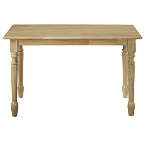 dining table, kitchen table, natural finish, international concepts, whitewood