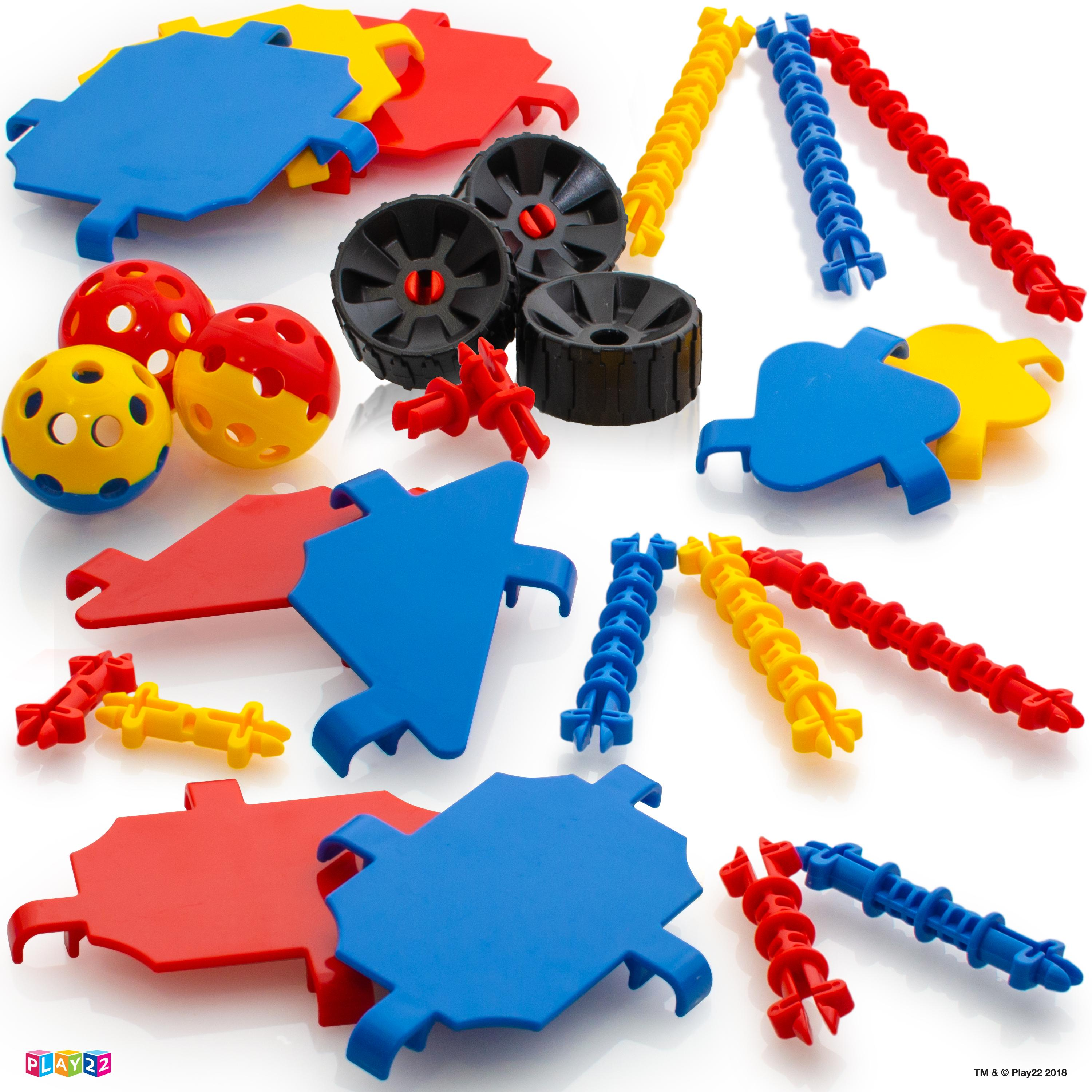 Amazon.com: Play22 Building Toys For Kids 165 Set - STEM ...