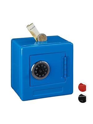 Relaxdays Hucha Caja Fuerte combinación para niños, Hierro ...