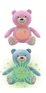 Chicco Baby Bär, Nachtlicht Projektor mit Farbwechsel und 30