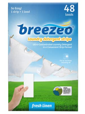 Amazon.com: Breezeo Laundry Detergent Strips (Laundry Detergent ...