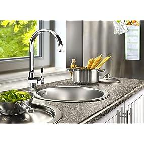 Cornat Spültischarmatur FABIO chrom Wasserhahn Küchenarmatur