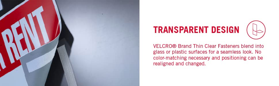 Velcro Thin Clear Fasteners, Transparent fastener, hook and loop fastener