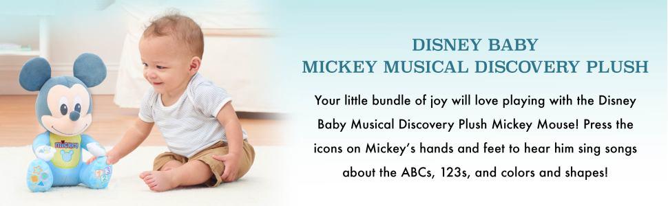 Disney Baby Mickey Musical Discovery Plush