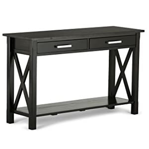 Amazoncom Simpli Home Kitchener Solid Wood Console Table Dark