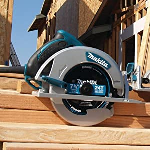 circ saw corded power AC wood woodworking handle grip teal beams framing frame 2x4