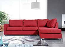 Excellent Nhi Express Landon Reversible Sectional Sofa Red Ibusinesslaw Wood Chair Design Ideas Ibusinesslaworg