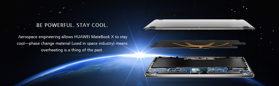huawei matebook x with aerospace engineering material