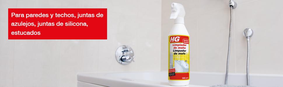 HG Limpiador de moho 500 ml – Espray destructor de moho muy eficaz ...