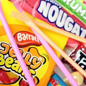 Nougat, Sherbet Straws, Jelly Beans