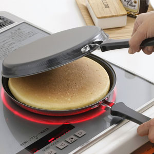 下村企販 お好み焼き・ホットケーキパン IH対応 鉄エンボス加工 日本製 36469