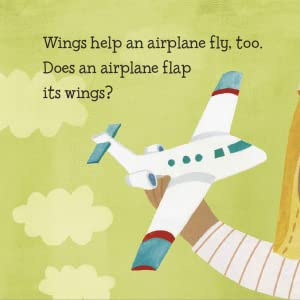 Wings help an airplane fly, too. Does an airplane flap its wings?