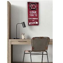 South Carolina Gamecocks Love You To College Logo Plaque