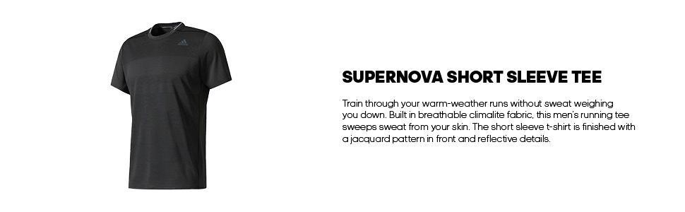 11206f7e3e2bf Amazon.com  adidas Men s Running Supernova Short Sleeve Tee  Sports ...