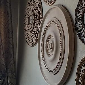 wall medallion, ceiling medallion ideas