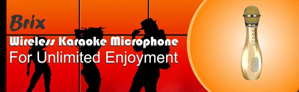 Portable Wireless Microphone Bluetooth Speaker Bowling Shape Smart Karaoke Sing audio player family