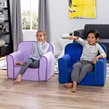 delta children kids toddler foam snuggle chair lightweight