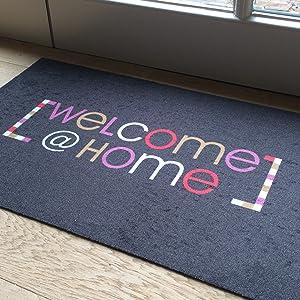 Welkom, welkom, voetmat, deurmat, schoonloopmat, binnen, binnen, vuilvangmat.