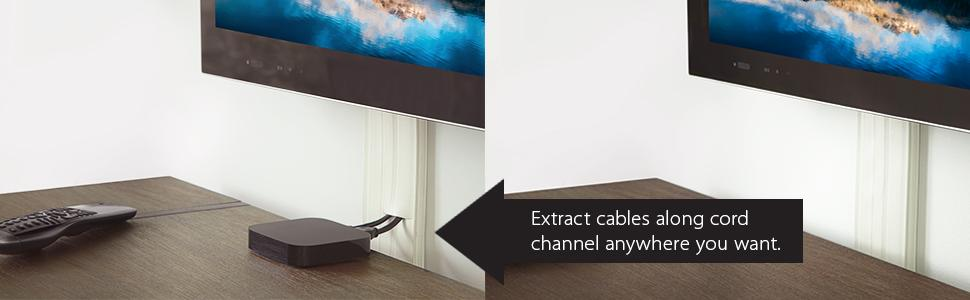 8 ft cordline 2 way cord channel paintable white office products. Black Bedroom Furniture Sets. Home Design Ideas