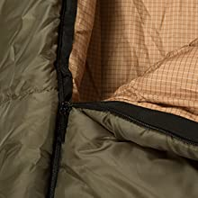 Taped, anti-snag zippers that roll smoothly when you get in or out of the sleeping bag.