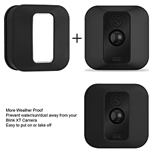 Blink XT2 Camera Wall Mount Bracket, 360 Degree Adjustable Wall Mount with  Weather Proof Silicone Case Cover for Blink XT/XT2 Outdoor/Indoor Home