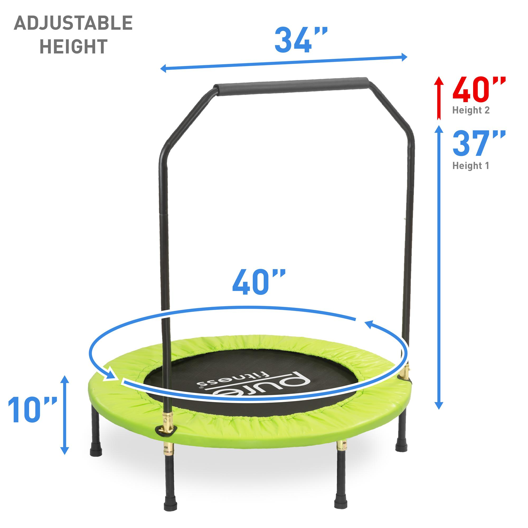 "Amazon.com : Pure Fitness 40"" Mini Rebounder Trampoline"