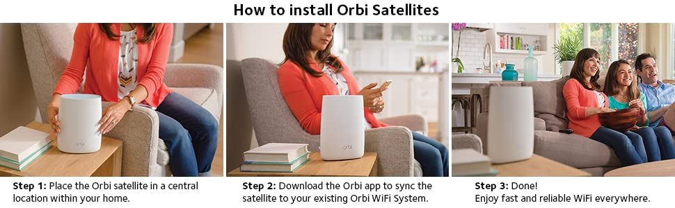 Amazon Com Netgear Orbi Home Wifi System Ac3000 Tri Band