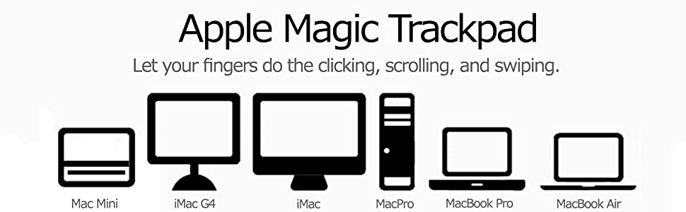 Apple Trackpad, macbook, imac, macintosh, input, MC830LL/A, touchpad, multi-touch, gesture, scroll,