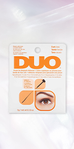 DUO Brush-On Strip Lash Adhesive, Dark, 0.18 oz