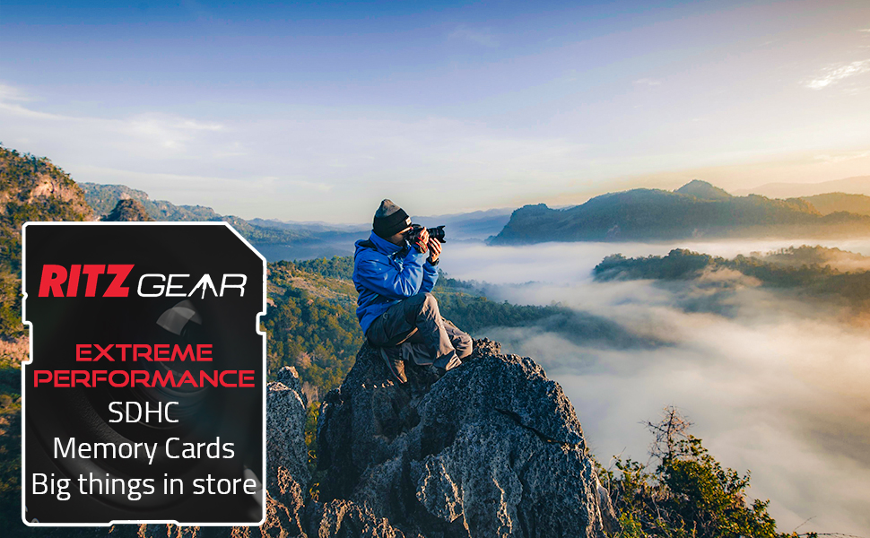 Ritz Gear Extreme Performance SDHC Memory Cards Top Banner image