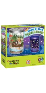 tarrarium for kids, kids terrarium, glow and grow terrarium, kids crafts, kids gifts, gifts for kids