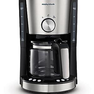 Morphy Richards Evoke Filter Coffee Machine Brushed 162521
