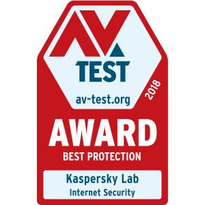 AV Test - Best Protection - Kaspersky internet security 2020