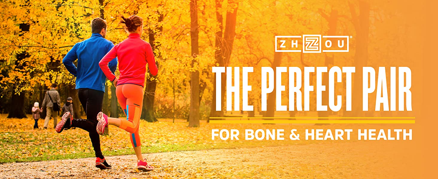 Zhou K2+D3 the perfect pair for bone and heart health.