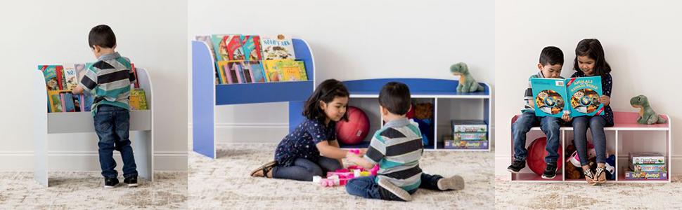 Iris Ohyama, Meuble de rangement / Bibliothèque pour Enfants - Kids Book Shelf - KBS-2