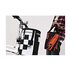 DOPPELGANGER フロントバッグ 2WAYドラムバッグ 折りたたみ収納可能 軽量400g [折りたたみ自転車取付用フック付属]