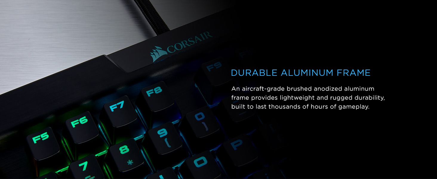 Corsair K70 Rgb Mk2 Mechanical Gaming Keyboard Usb Passthrough Strafe Cherry Mx Brown Media Controls Tactile Quiet