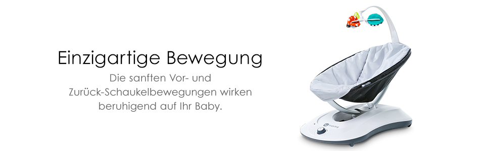 elektrisch grau automatische Schaukelwippe mit Spielbogen 4moms rockaRoo Babyschaukel