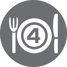 4 portioner