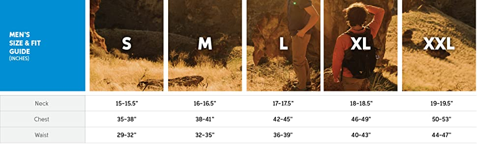 Men's long sleeve t-shirt size and fit guide