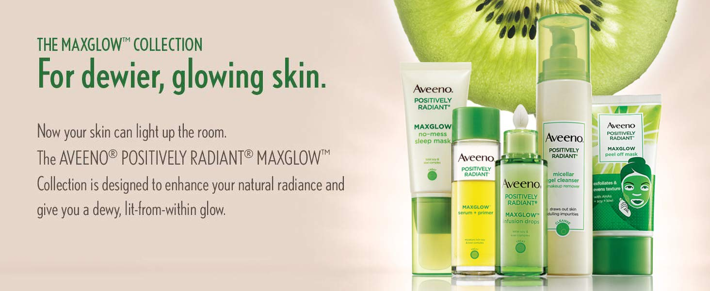 Aveeno - The MAXGLOW Collection, For dewier, glowing skin