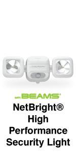 mr beams netbright, netbright spotlight, wireless security light, networked spotlight