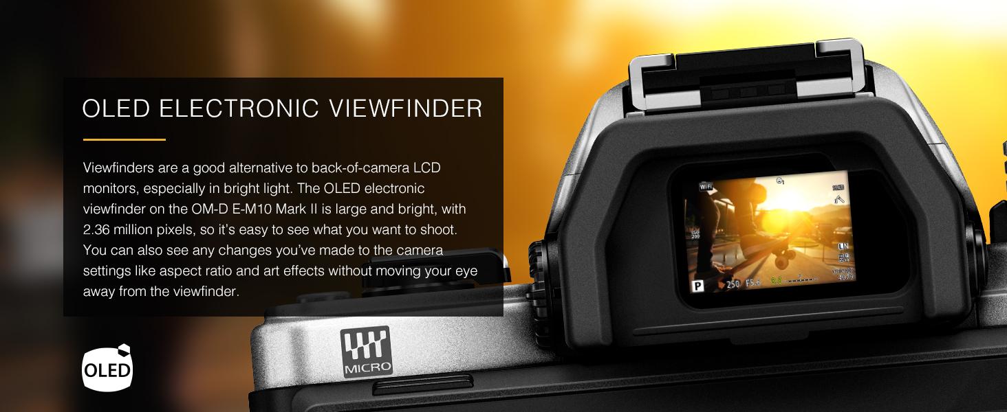 OM-D E-M10 Mark II OLED Electronic Viewfinder